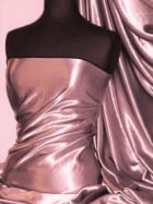 Satin Crushed Charlotte Creased Look Fabric- Dusky Pink STN66 DPN