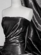 Satin Crushed Charlotte Creased Look Fabric- Black STN66 BK
