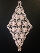 Cotton Crochet Diamond Embellishment- Dusk Pink EM358 DSPN
