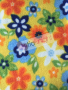 Polar Fleece Anti Pill Washable Soft Fabric- Summer Flowers SQ227 YLMLT