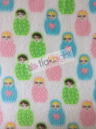 Polar Fleece Anti Pill Washable Soft Fabric- Russian Dolls SQ230 IVMLT