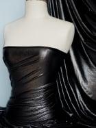 Lucci Fog Foil Stretch Jersey Fabric- Black Silver Q926 BKSLV