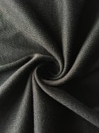 Poly Viscose Rib Stretch Fabric- Black SQ244 BK