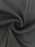 100% Cotton (1 Metre) Soft Fine Rib Knit Material- Black SQ246 BK