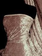 Crushed Velvet/Velour Stretch Material- Mocha Brown Q156 MCHBR
