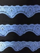 Lace Scalloped Floral Design Trim- Bluebell SY194 BL