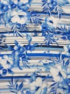 100% Viscose Light Weight Woven Material- Hawaiian Blues VSC242 RBLWH