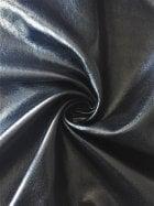 Wet Look Stretch Ponte Fabric- Black SQ259 BK