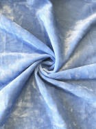 Marble Texture Velvet Lycra 4 Way Stretch Fabric- Bluebell Q172 BLB