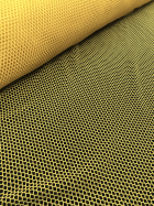 20 METRES Fishnet (6mm) 4 Way Stretch Material Wholesale Roll- Bright Yellow JBL73 BTYL