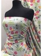 Smooth Touch Woven Blouse/Dress Fabric- Hawaiian Flower Breeze SMT28 PBLMLT