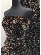 Plush Velour Animal Print Velvet Soft Fabric- Brown Mini Cheetah SQ273 BRSTN
