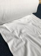 20 METRES Clearance Cotton 1x1 Rib Tubular Width Fabric Job Lot Bolt- White JBL92 WHT