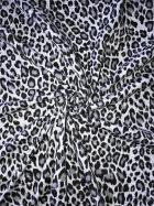 Viscose Cotton Stretch Fabric- Marl Grey Leopard SQ290 GRWH