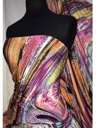 Printed Silk Touch 4 Way Stretch Fabric- Rainbow Marble Galaxy SQ295 MLT