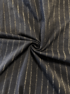 Subtle Shimmer Stripe 4 Way Stretch Fabric- Black/Gold SQ305 BK