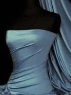 Shiny Lycra 4 Way Stretch Material- Denim Blue Q54 DNM