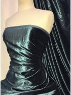 Crushed (Satin Look) Glitz Velour/Velvet Woven Interior Fabric- Teal SQ269 TL