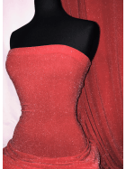 Slinky Shimmer 4 Way Stretch Fabric- Red/Silver Q1183 RDSLV