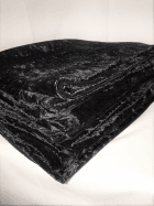 10 PIECES Clearance (1/2 Metre+) Crushed Velvet/Velour Stretch Material Job Lot Pieces- Black JBL166 BK