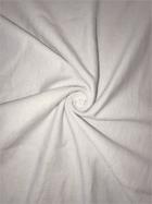 Sweatshirt Fleece Cotton Backed Soft Fabric- White SQ346 WHT