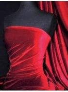 Micro Velvet Velour Fabric Luxuriously Soft Velvet- Deep Red MVEL22 DPRD