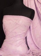 Embossed 4 Way Stretch Lycra Fabric- Pink Snake Q984 PN