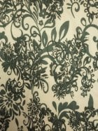 20 METRES Viscose Cotton 4 Way Stretch Victorian Design Fabric Job Lot Bolt- Ivory/Sage Green JBL244 SGRNIV