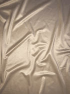 Clearance (1 Metre Width) Satin Shiny Lycra Stretch Material- Buttercream SQ123 BCRM