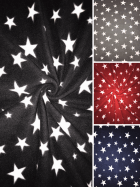NEW Polar Fleece Anti Pill Washable Soft Fabric- Twinkle Stars Print- SQ351