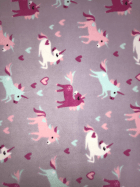 Polar Fleece Anti Pill Washable Soft Fabric- Unicorn Dreams (Lilac) SQ355 LILMLT