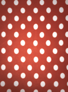 Polar Fleece Anti Pill Washable Soft Fabric- Giant Polka Dots (Orange) SQ356 ORWHT