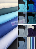 25 METRES Silk Touch 4 Way Stretch Lycra Fabric Wholesale Roll- Blue Shades JBL333
