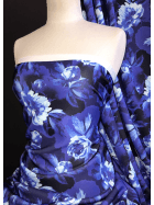 Scuba Stretchy Poly Lycra Fabric- Blue Paradise SCB204 BL