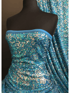 Showtime Sequins Dress/Dance Net Fabric- Sea Sparkle SEQ74 TQS