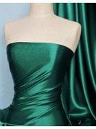 Super Soft Satin Fabric- Bottle Green Q710 BTGR