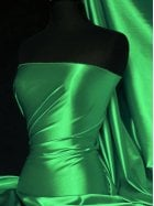 Super Soft Satin Fabric- Leaf Green Q710 LFGR