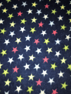 Polar Fleece Anti Pill Washable Soft Fabric- Navy/Multi Mini Stars SQ397 NYMLT