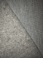 Sweatshirt Fleece Backed Super Soft Fabric (Tubular Width)- Marl Grey SQ400 MGR