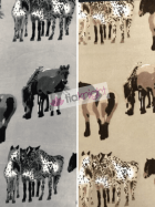 10 METRES Polar Fleece Anti Pill Washable Fabric Wholesale- Horses Print JBL357