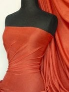 Slinky Stretch Jersey Fabric- Dark Rust Q323 DRST