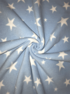 Polar Fleece Anti Pill Washable Soft Fabric- Baby Blue Twinkle Stars SQ351 BBL