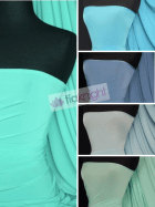 14 PIECES Clearance (1/2 Metre) Silk Touch 4 Way Stretch Lycra Fabric Job Lot Bundle- Blue Shades JBL375