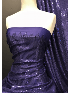 Showtime Sequins All Over Stitched Fully Lined Lycra Fabric- Fantasia Purple SQ416 PPL