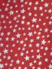 Soft Fine Rib 100% Cotton Knit Material - Silver Stars on Red Q840 RD