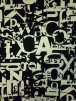 Viscose Cotton Stretch Lycra Fabric- Letter Graphics Q1106 BLKCRM