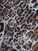 Chiffon Silk Touch Sheer Fabric- Brown Big Leopard Q570 BR