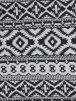 Jacquard Medium Weight Stretch Double Layer Fabric- Black/White JQ 03BKWHT