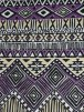 Viscose Cotton Stretch Lycra Fabric- Pam Purple Aztec VSC09 PPL