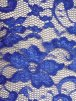 Lace Scalloped Floral Stretch Lycra Fabric- Royal Blue Q615 RBL